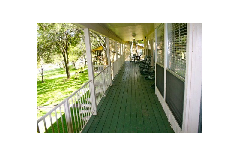 Rental porch at Oak House On Lake LBJ.
