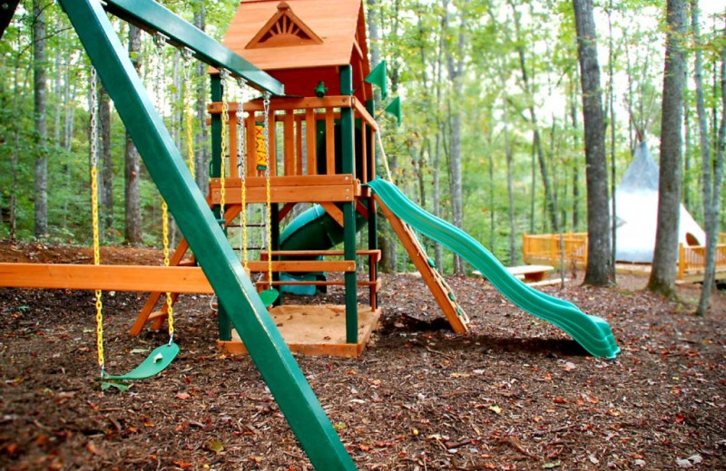 Playground at Watershed Resort.