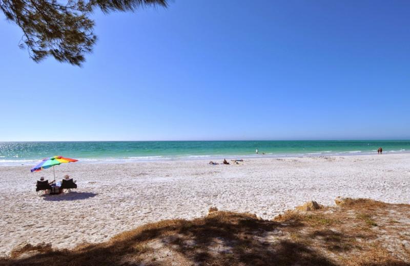 The beach at Anna Maria Vacations.