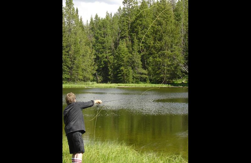 Fishing at Rimrock Dude Ranch.