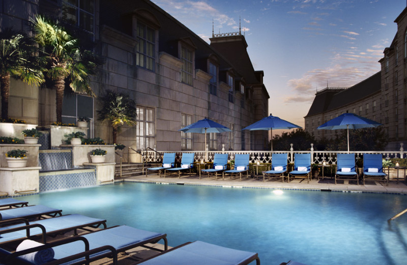 Outdoor pool at Rosewood Hotels and Resorts.