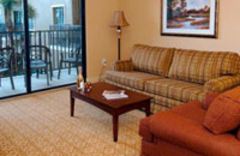 Balcony room at Lake Eve Resort.
