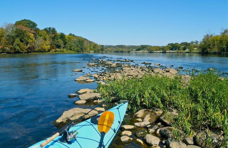 Kayaking at Jackson Mountain Homes.