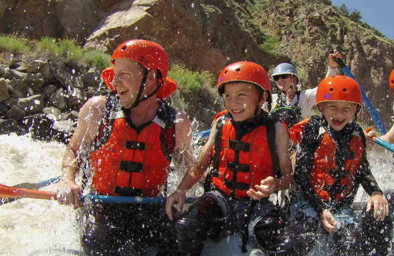 Rafting near Royal Gorge Cabins.