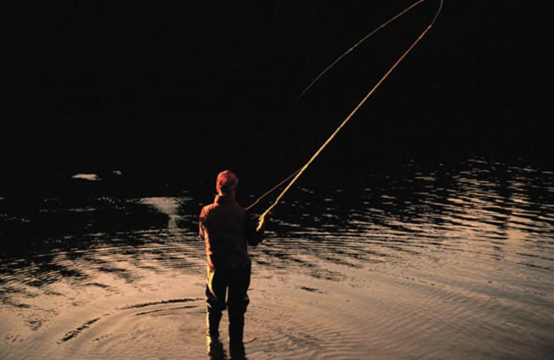 Fishing at The Ranch at Emerald Valley.