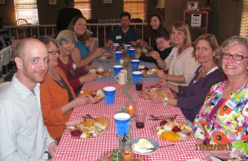 Thanksgiving dinner at Way Of Wolf B & B.