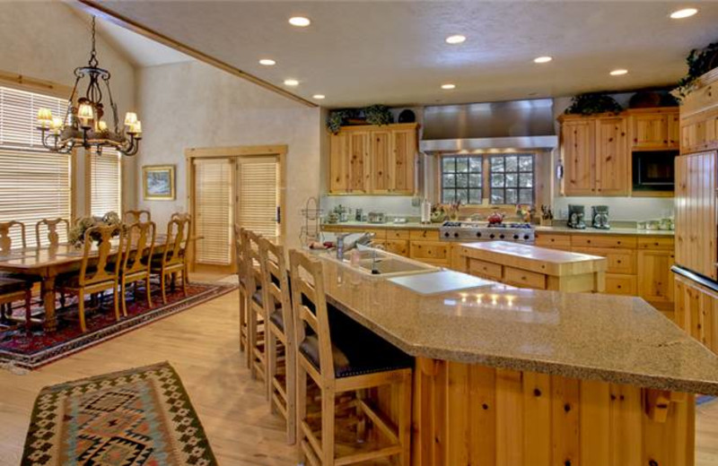 Rental kitchen at Alpine Ski Properties.