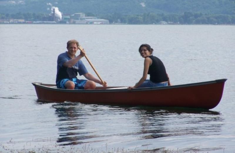 Canoeing at Finger Lakes Waterfall Resort
