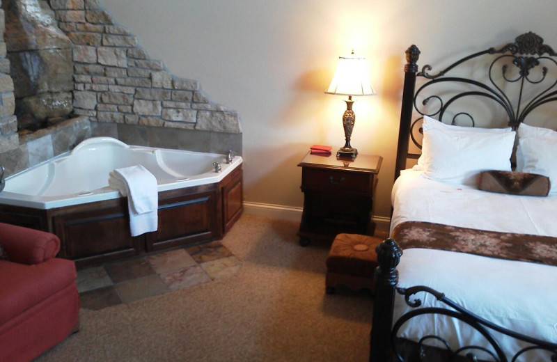 Guest room at St Croix River Inn.
