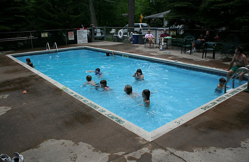 Outdoor pool at Hemlock Campground & Cottages.
