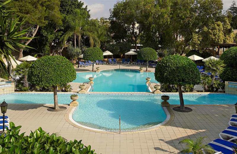 Outdoor pool at Corinthia Palace Hotel.