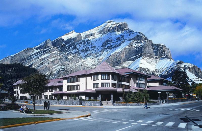 Exterior view of Banff International Hotel.