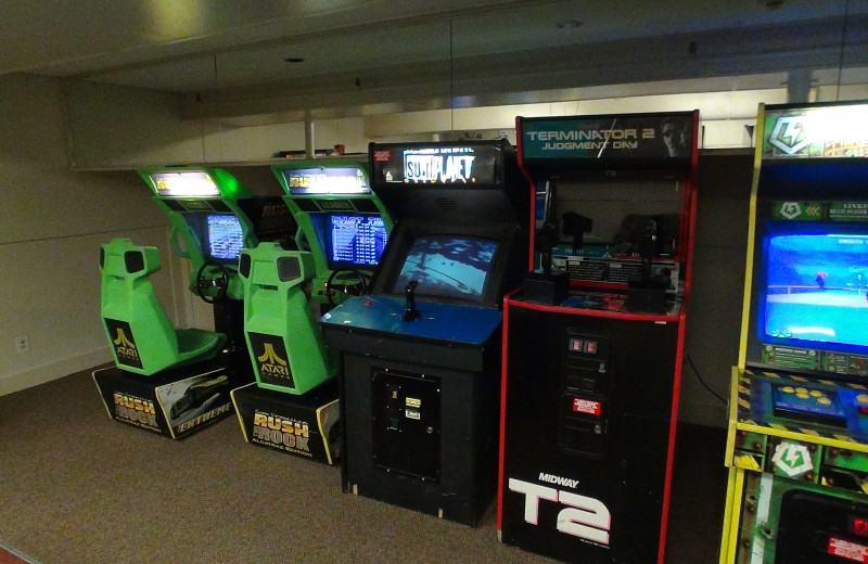 Video arcade at Eastern Slope Inn Resort.