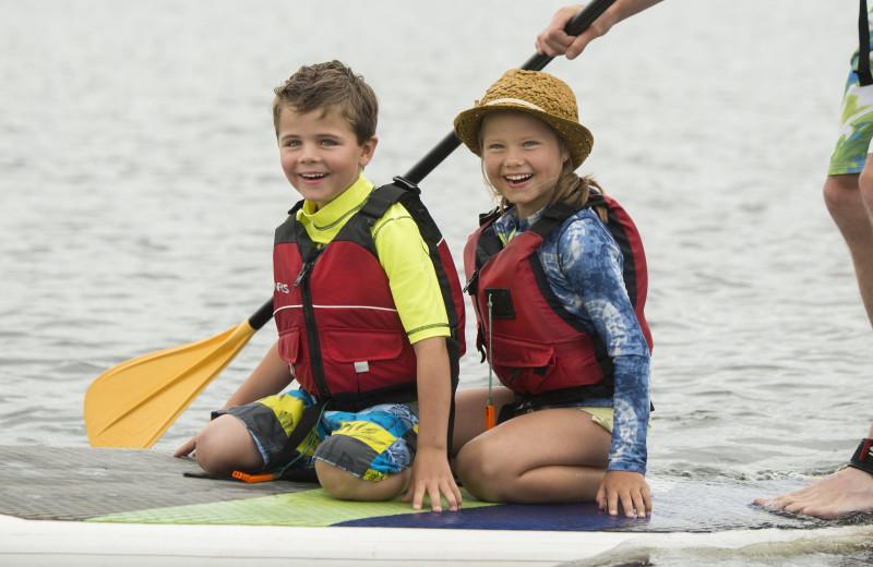 Paddle boarding at Lutsen Resort on Lake Superior.
