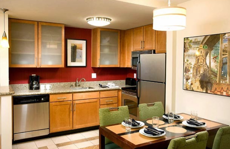 Guest kitchen at Residence Inn by Marriott San Diego Oceanside.