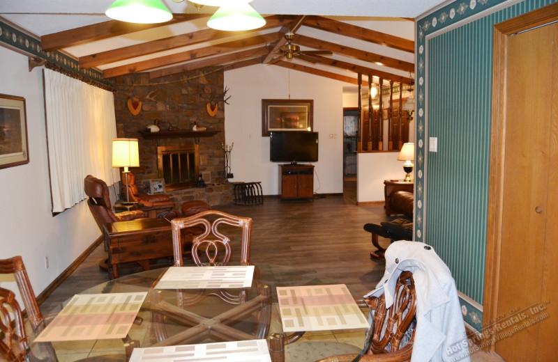 Rental interior at Hot Springs Village Rentals.
