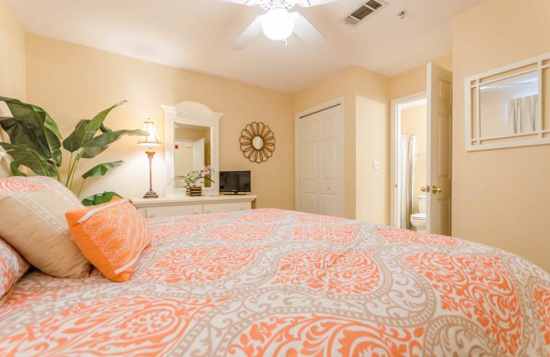 Rental bedroom at Grand Caribbean Resort.