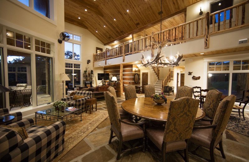 Guest house interior at Joshua Creek Ranch.