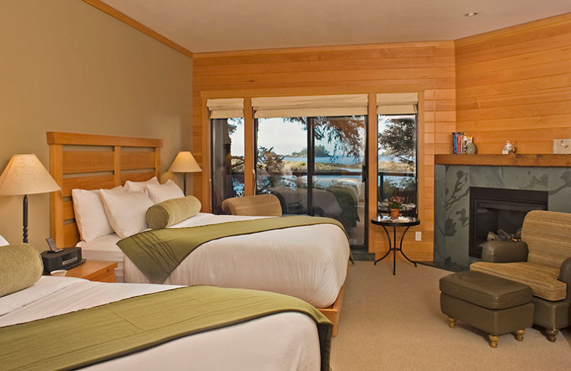 Guest room at Wickaninnish Inn.