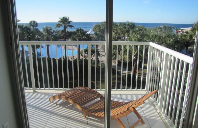Rental balcony at Crystal Waters Vacations.