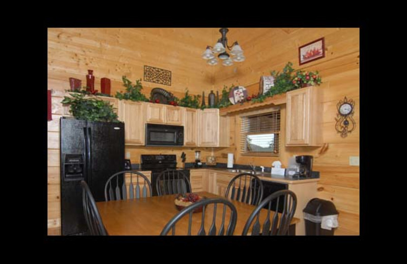 Cabin kitchen at Eden Crest Vacation Rentals, Inc - Oh Yea!