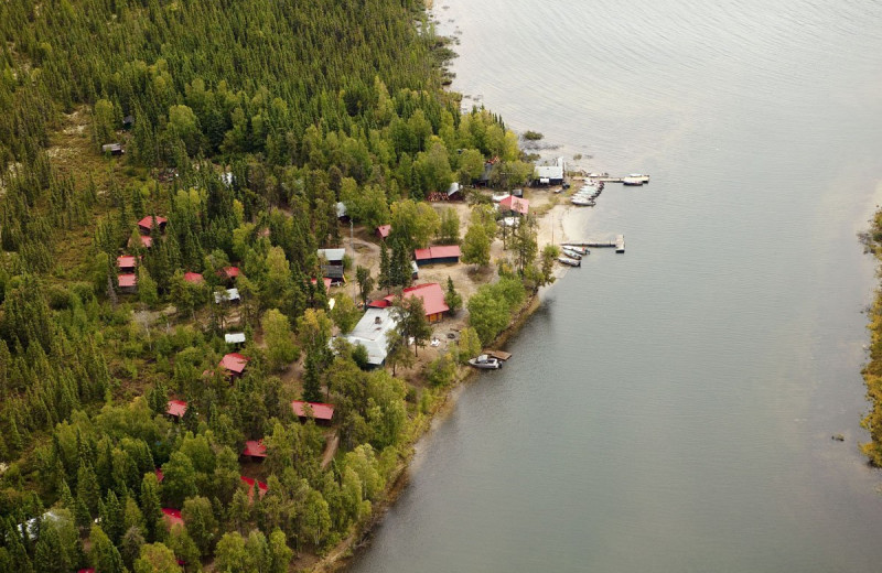 Aerial view of Arctic Lodges.