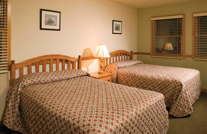 Guest room at Wyndham Vacation Resorts Shawnee Village.