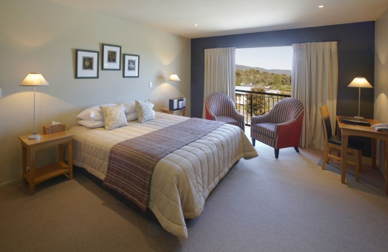 Guest room at Te Weheka Inn Fox Glacier.
