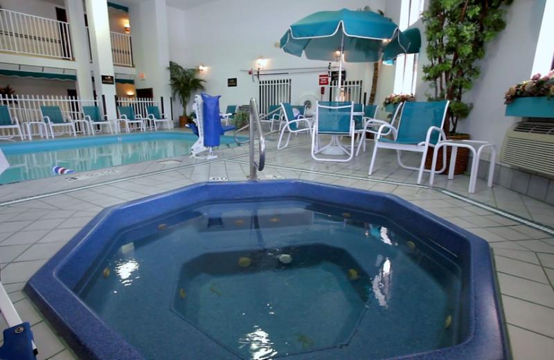 Indoor pool at Washington Inn and Suites.