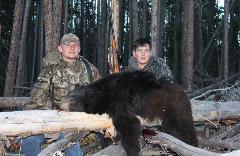 Bear hunting at Kendall Valley Lodge.
