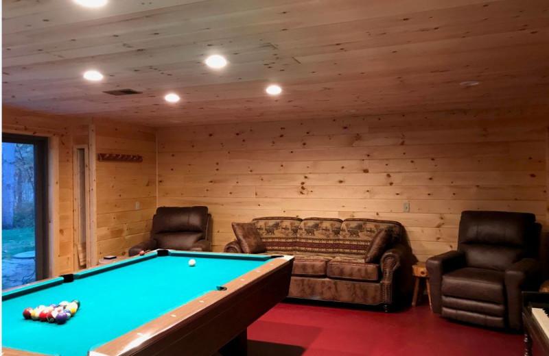 Rec room at Acorn Lodge.