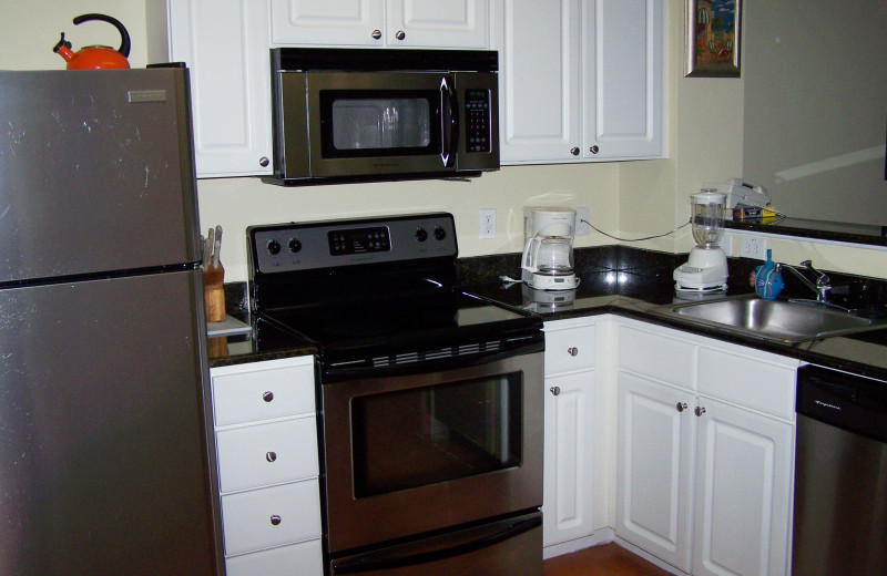 Rental kitchen at Madeira Bay Resort.