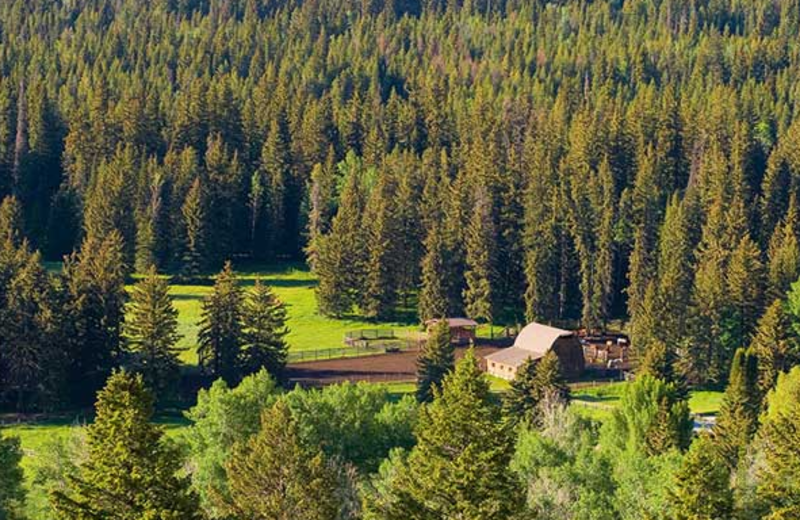 Aerial view of Trail Creek Ranch.