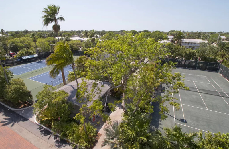 Rental tennis court at 1800 Atlantic, All Florida Keys Property Management.