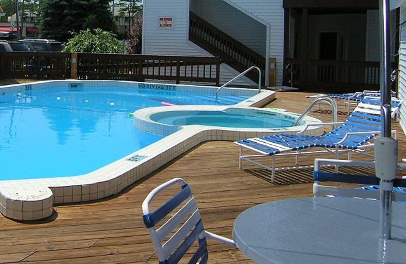 Outdoor pool at The Beach Condominiums Hotel-Resort.