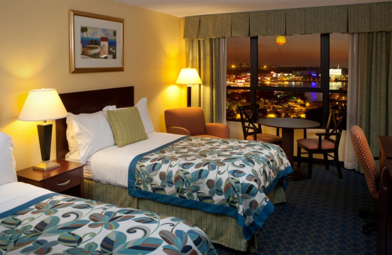 Guest bedroom at Wyndham Lake Buena Vista Resort.