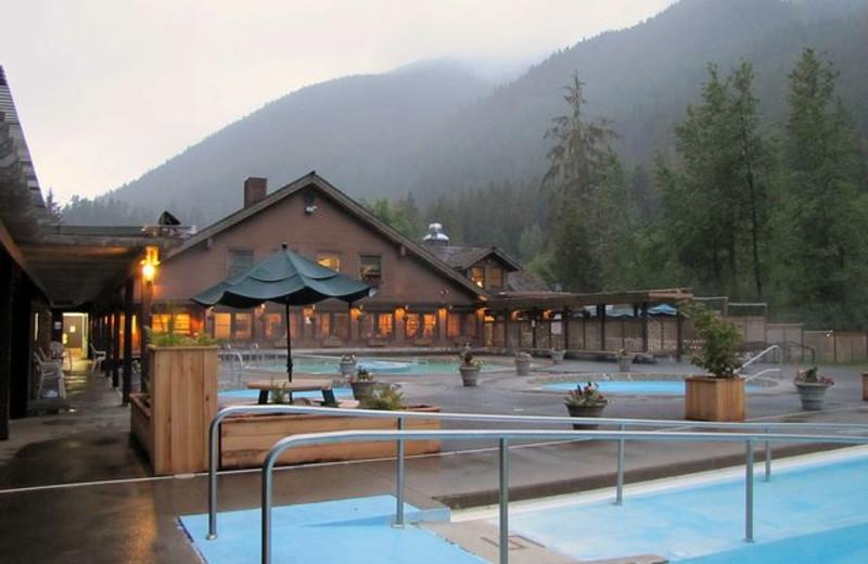 Exterior view of Sol Duc Hot Springs Resort.