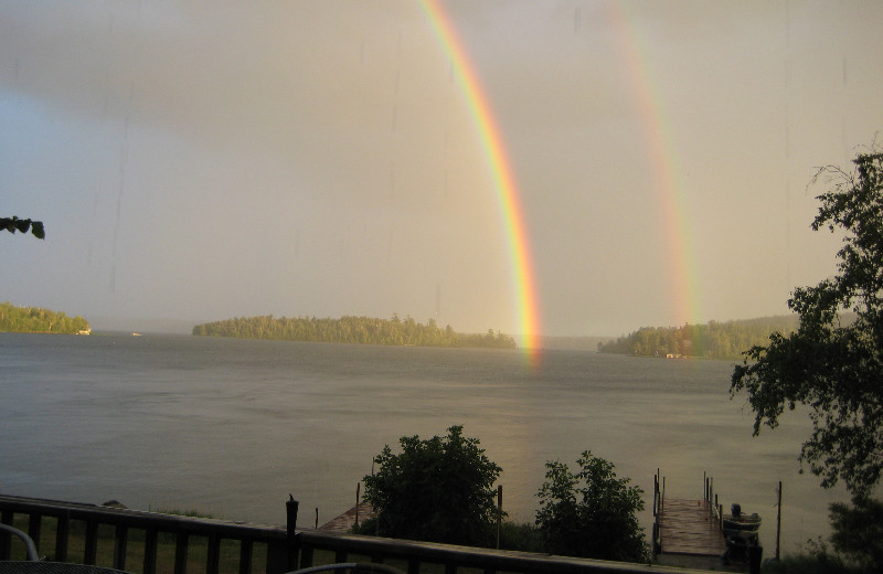 Rainbow Over Lake at Vermilion River Cottages