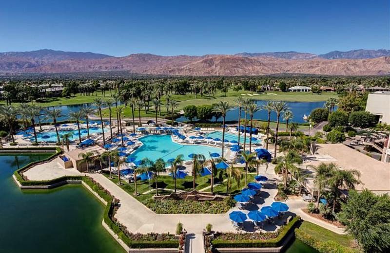 Aerial Pool View at Marriott Desert Springs Resort