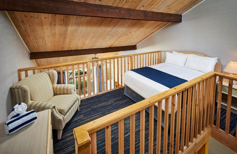 Guest loft at Sir Sam's Inn & Spa.