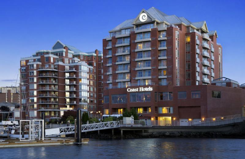 Exterior view of Coast Victoria Harbourside Hotel & Marina.