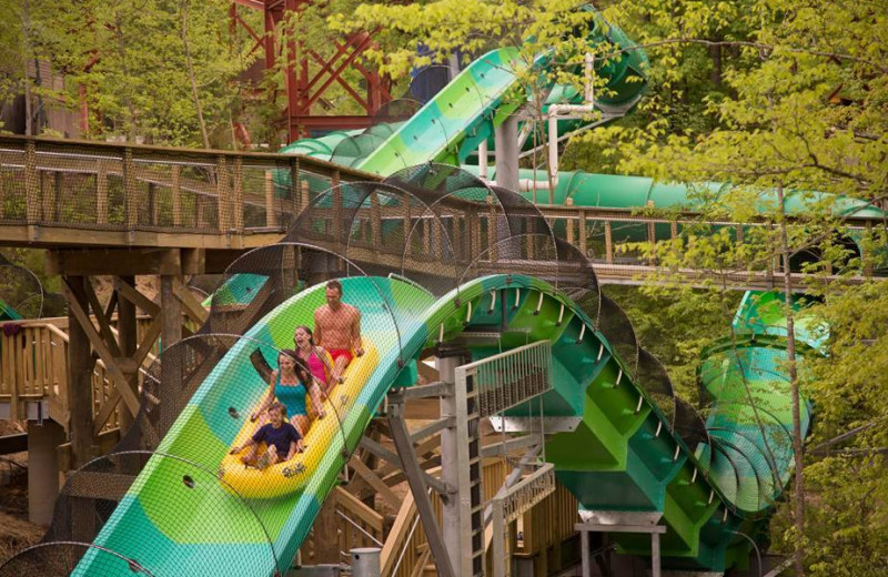 Dollywood's Splash Country near The Cabin Rental Store.