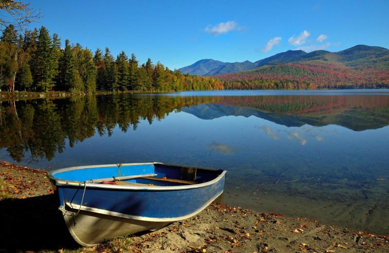 Lake view at Elk Lake Lodge.