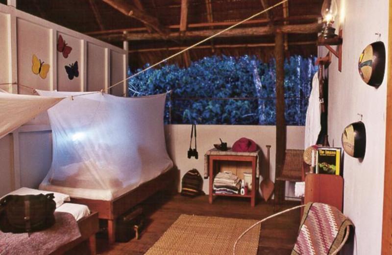 Guest room at Amazon ExplorNapo Lodge.