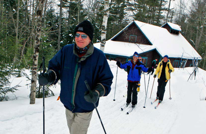 Cross country skiing at Garnet Hill Lodge.