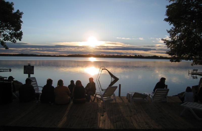 Lake view at Shady Rest Resort.