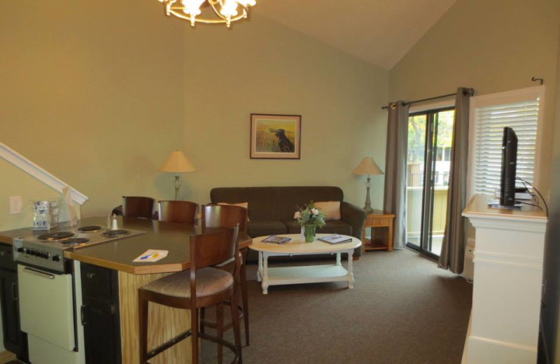 Vacation rental living room at Northern Quarters Management.