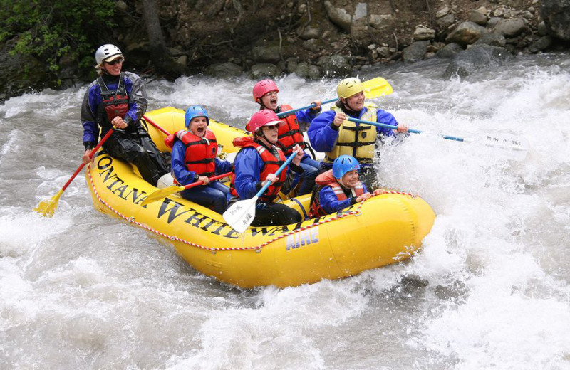Rafting near Bridger Vista Lodge.