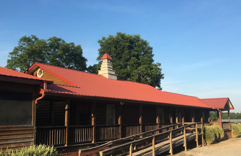 Bunkhouse exterior at Buckhead Ranch.