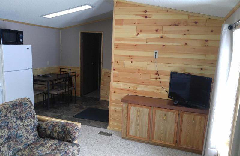 Cabin interior at Wilderness Resort.